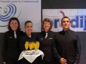 Équipe de serveurs Salle de réception L'Ambroisienne