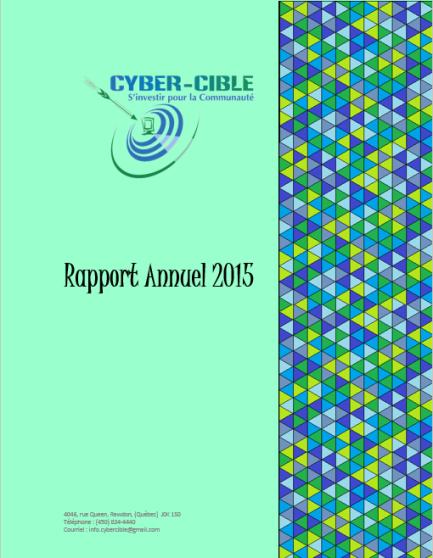 Rapport d'activités 2015 - Cyber-Cible
