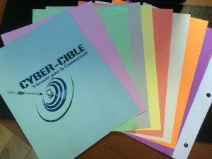 Une grande variété de papiers couleurs