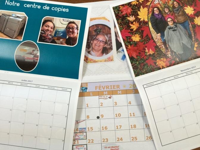 Exemples de calendriers